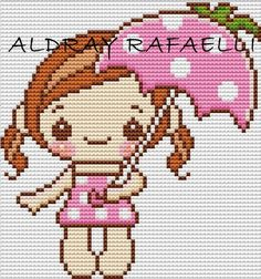 Oi gente!!!! voces nem imaginam o quanto eu estou feliz, por fazer essa homenagem a minha amiga!!!! Ela é uma fofa!!!! e eu a tenho como am... Fuse Beads, Perler Beads, Cross Stitch Designs, Cross Stitch Patterns, Pixel Art, Bead Crafts, Diy And Crafts, Kawaii Cross Stitch, Stitch Doll