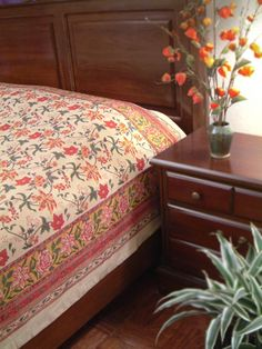 Hand printed by artisans in fair trade, Saffron Marigold offers shower curtains, curtains, table linens, bedspreads, etc. All printed an inch at a time by hand. $79.99 for King size