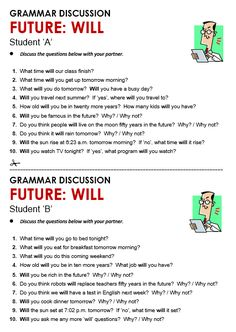 Quality ESL grammar worksheets, quizzes and games - from A to Z - for teachers & learners FUTURE with WILL English Teaching Materials, Learning English For Kids, English Worksheets For Kids, English Writing Skills, English Reading, English Lessons, Teaching English, English Grammar Test, English Grammar Exercises