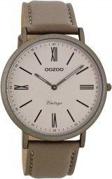 Oozoo Ultra Slim Vintage Uhr C7711 - taupe - 40 mm - Lederband