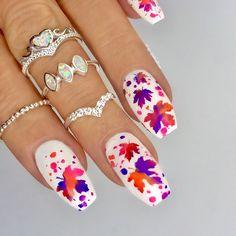 Autumn Nails / Nail Art - Click link below this photo for full description ©-ig: @ldnailsxo - - Opal from Indigolune.com