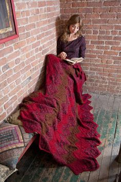Crocheted throw - a) learn to crochet or b) beg my mom to make it for me!