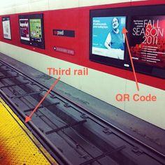 "2. Third Rail.  ""Simply climb down onto the tracks, carefully step over the third rail… Now, launch your QR scanner and… TRAIN!""  http://mashable.com/2012/03/04/funniest-qr-code-fail/?utm_source=feedburner&utm_medium=feed&utm_campaign=Feed%3A+Mashable+%28Mashable%29&utm_content=Google+Reader#518412-Third-Rail"