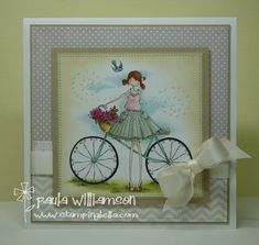 Flora & her bike {UPTOWN girl} by paulatracy - Cards and Paper Crafts at Splitcoaststampers