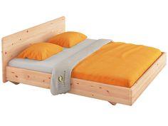 Balkenbett zirbe  Bett Ala 180x200cm, Höhe 86 cm, Zirbe   Grüne Erde   Bett ...