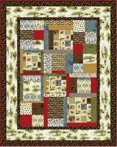 Little Rivers - Patchwork Quilt Kit - Look for it in July