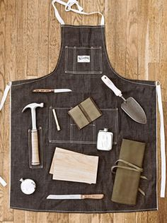 Stronghold Selvedge Denim Apron.  Swoon.