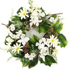 This spring, summer, or everyday wreath can be hung on a front door or on a wall in a living room, dining room, bedroom or above the fireplace mantle. Summer Mantel, Summer Door Wreaths, Pre Lit Wreath, Pink Locations, Spring Door, Spring Summer, Christmas Mix, Mini Candles, Boxwood Wreath