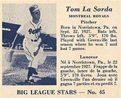 1950 Big League Stars (V362) #45 Tom Lasorda Front