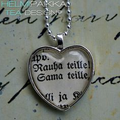 Rauha teille! 20€ Tea Design, Dog Tags, Dog Tag Necklace, Accessories, Jewelry, Jewlery, Jewerly, Schmuck, Jewels
