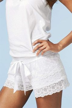 Women's Sleepwear - Pyjamas, PJs, Nighties, Dressing Gowns, Robes - Next Lace Shorts
