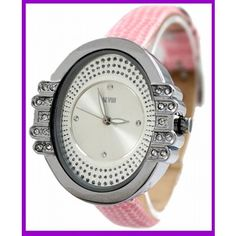 New PNP Shiny Silver Watchcase Ladies Very Nice Lovely Case Fashion Watch FW587D