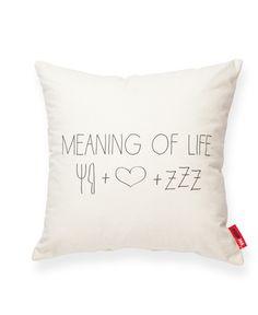Meaning of Life Cream Throw Pillow | POSH365INC
