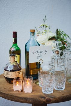 Whiskey bar. Photography: Closer to Love Photography - closertolovephotography.com