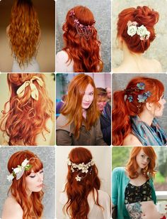 Love these hairstyles!