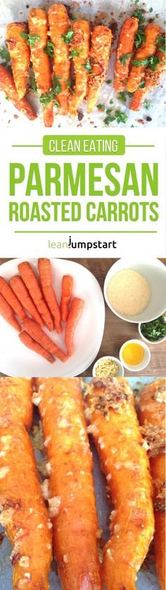 Parmesan Roasted Carrots – A spicy clean eating snack for weight management