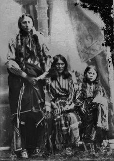 Comanche family - circa 1890