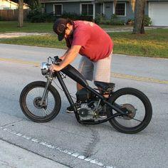 Mini Chopper Motorcycle, Chopper Bike, Moto Bike, Motorcycle Bike, Trike Bicycle, Cafe Bike, Motorized Bicycle, Honda Trike, Custom Mini Bike