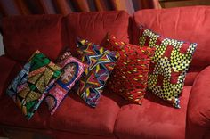 african decoration with wax cushions