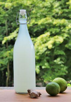Ginger and lime lemonade.
