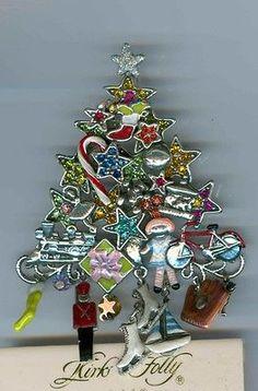 Boxed Kirks Folly Toyland Christmas Tree Pin/Pendant ST