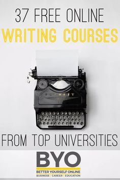 Want to be a writer? If so check out these free online writing courses from universities such as MIT, Purdue and more: Do you have a passion for writing but aren't confident in your own style? Mayb…