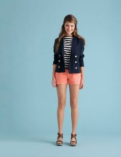 Wear it on weekends.    Throw on a pair of sorbet-colored shorts, and a preppy outfit feels so much more playful.