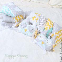 Купить Бортики-домики в кроватку - разноцветный, комплект в кроватку, бортики в кроватку, бортики домики