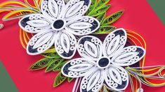 Paper art | How To Make Beautiful Quilling Flowers Design Birthday Card|...