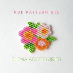 bead embroidery patterns on fabric Bead Crochet Patterns, Bead Embroidery Patterns, Beading Patterns Free, Seed Bead Patterns, Weaving Patterns, Beading Tutorials, Beaded Embroidery, Peyote Patterns, Free Pattern