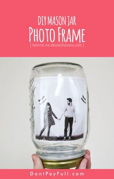 DIY Mason Jar Photo Frame #DontPayFull