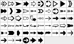 Free Photoshop Shapes:  Arrows