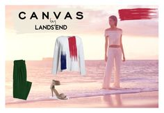 """""""Paint Your Look With Canvas by Lands' End: Contest Entry"""" by altrisa-mulla ❤ liked on Polyvore featuring Lands' End and Canvas by Lands' End"""