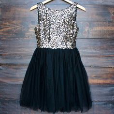 sugar plum dazzling gold sequin with black tulle darling party dress - large / gold Sweet 16 Dresses, Party Dresses For Women, Pretty Dresses, Beautiful Dresses, Casual Dresses, Short Dresses, Formal Dresses, Cute Homecoming Dresses, Prom Dresses