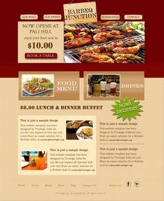 sample web design for a restaurant