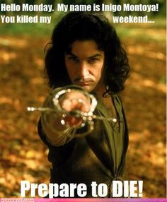 Honestly I didn't even think people my age even knew about the Princess Bride let alone Inigo Montoya.