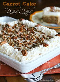 Melissa's Southern Style Kitchen: Carrot Cake Poke Cake