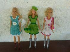 vestido de crochê # 12,para boneca barbie e similares - YouTube