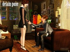 My Sims 3 Poses: Detain pose by Yuu