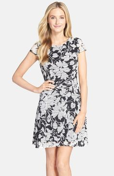ECI Floral Print Fit  amp  Flare Dress available at  Nordstrom White Floral  Dress ad1cd9bb5acb