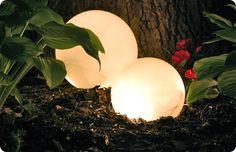 DIY Glowing Globes Garden Decor
