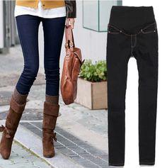 59e26cd5a8b4a Pregnant Women Elastic Jeans Pencil Pants Maternity Trousers UK 10 12 14  16. Pantalones De MaternidadRopa ...