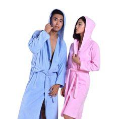 MMY Luxury Cotton Terry Spa Bath Robe Solid Bathrobe Lightwear Dressing  Gown New  MMY 4cf6d049a