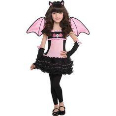 Toddler Girls Bat to the Bone Bat Costume