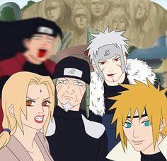 Naruto The Hokages and Madara with Kurama? Naruto Uzumaki Shippuden, Naruto Kakashi, Madara And Hashirama, Naruto Anime, Naruto Comic, Naruto Cute, Otaku Anime, Anime Meme, Manga Anime