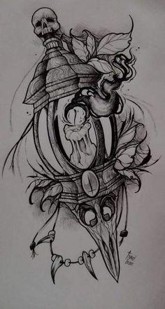 Эскизы татуировок эскиз тату ideias de tatuagens, desenho tatuagem и desenh Leg Tattoos, Black Tattoos, Body Art Tattoos, Sleeve Tattoos, Cool Tattoos, Awesome Tattoos, Tattoo Design Drawings, Skull Tattoo Design, Tattoo Sketches