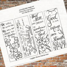 Bible Journaling:  Stand Still and Consider Downloadable Coloring Printable by OneChristianChick on Etsy