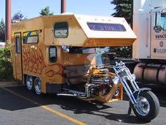 Motorcycle RV: Came across this unique bike while searching Google for RV pictures and thought you might enjoy seeing it