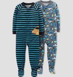 Toddler Boys' Construction Footed Sleeper Pajama Set - Just One You® made by carter's Blue Reason Pajama Set, Pajama Pants, Baby Boy Pajamas, Toddler Boys, Baby Boys, Sleepwear Sets, Alonso, Baby Boy Outfits, Outfit Sets