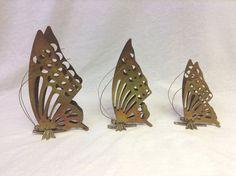 Brass Butterflies set of 3